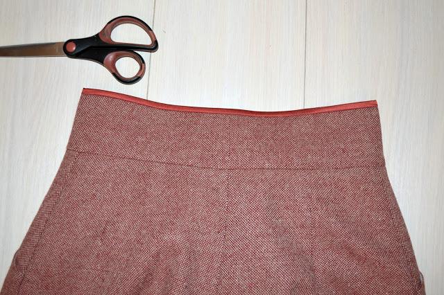 как пришить пояс к юбке фото пошагово