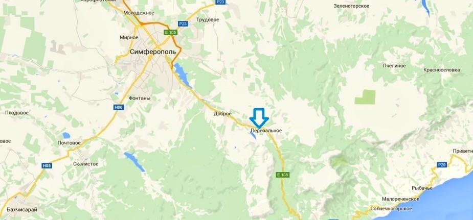 Мраморная пещера Крым на карте