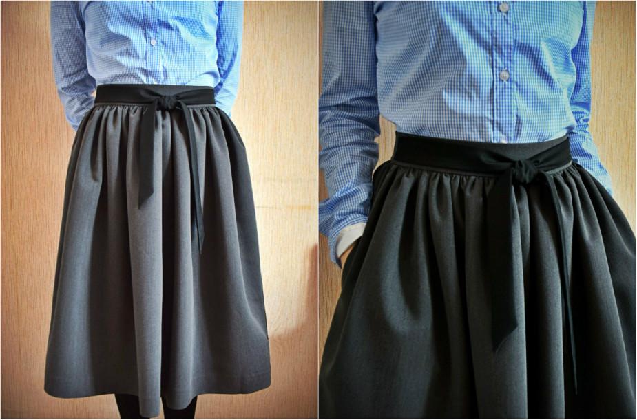 Сшить юбку на талии