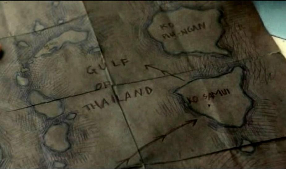 остров панган на карте