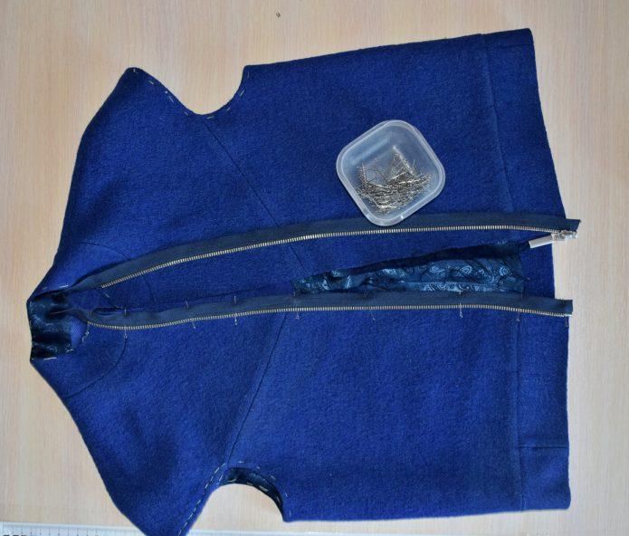 замена молнии на женской куртке цена в ателье
