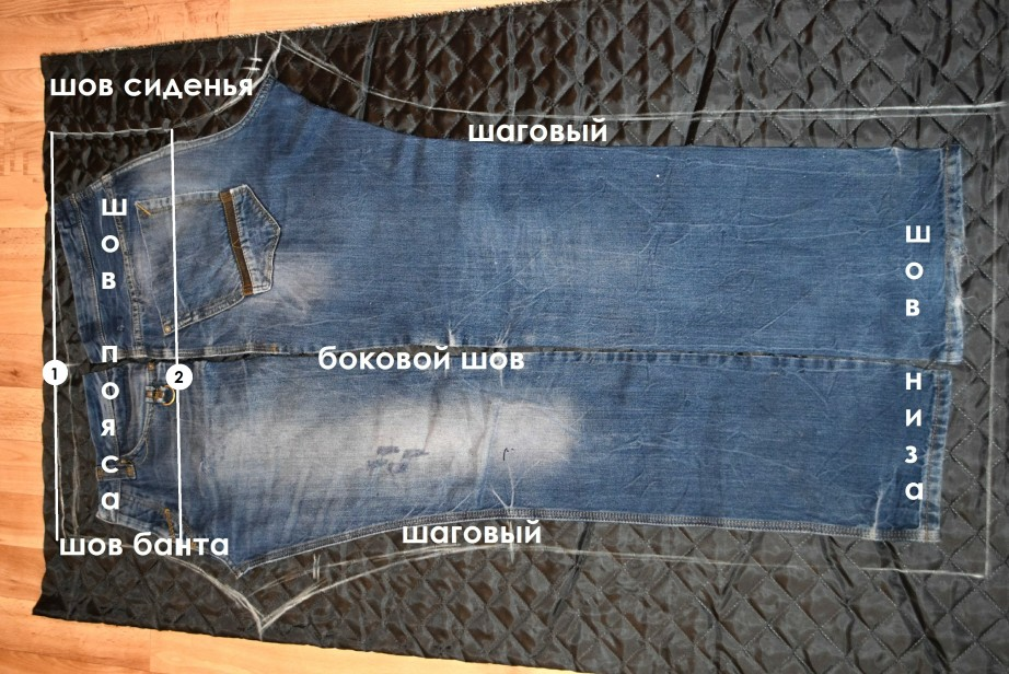выкройка зимних штанов