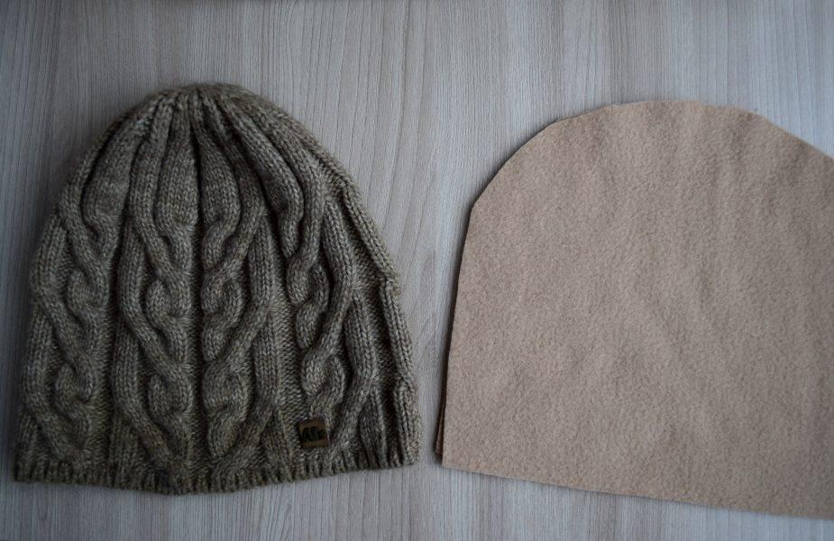 как утеплить вязаную шапку флисом за 30 минут