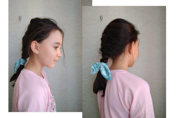как сшить резинку для волос своими руками