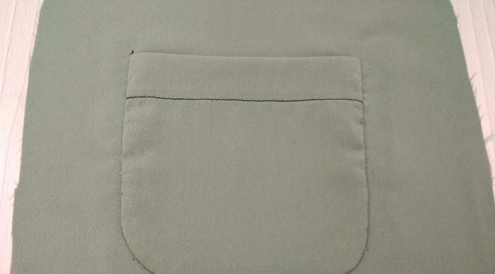 накладной карман техника пошива