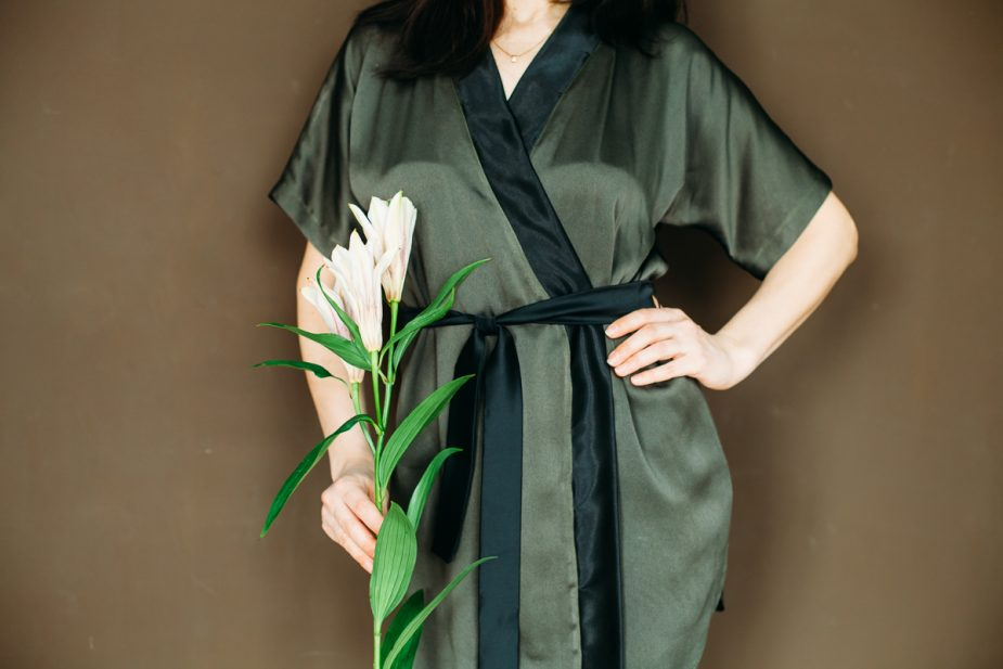 выкройка халата кимоно с запахом и рукавами