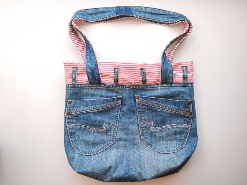 сумка из старых джинсов своими руками выкройка