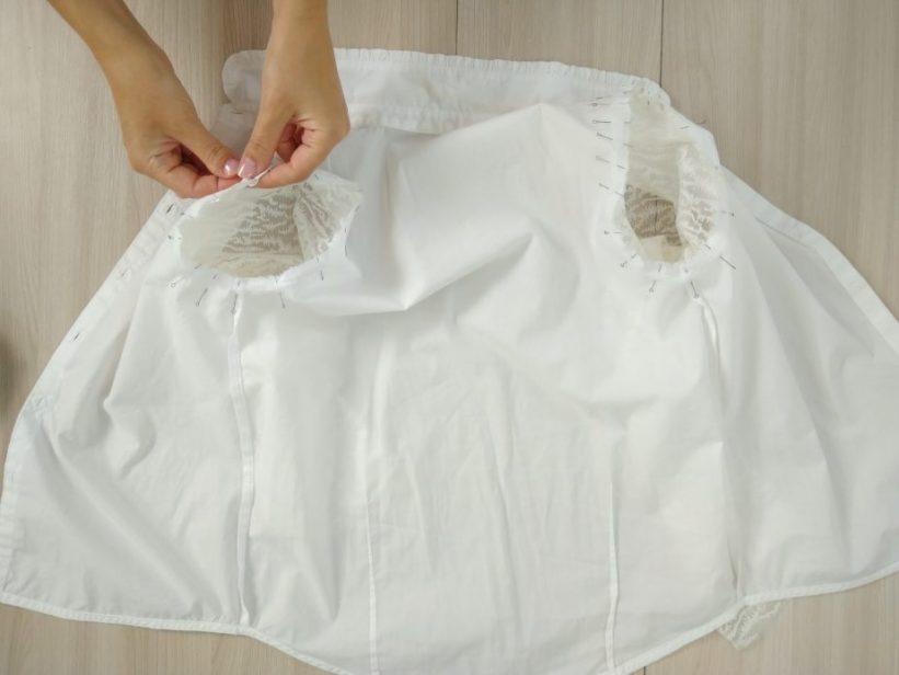 переделка рубашки своими руками