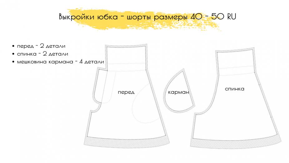 выкройка юбка-шорты женские